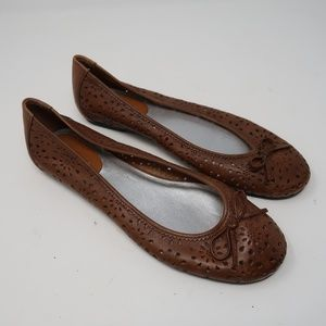 Womens Rockport Brown Bowtie Front Loafer Flats 8